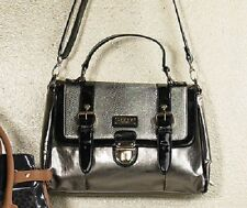 LADIES LIPSY LONDON ELLE SNAKE SATCHEL HANDBAG - GOLD/BLACK - BRAND NEW.