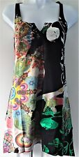 New Desigual Ladies Top 'Tunic Style' Black&Multi, Size M