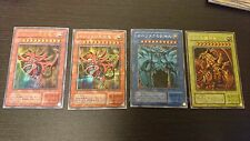 Secret rare Yu-gi-Oh Yugioh Egyptian God Cards G4-01,02, japan + 2 replica promo
