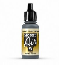 VALLEJO AIRBRUSH PAINT - MODEL AIR - BASE GREY 17ML - 71.097