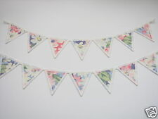 PAIR OF CATH KIDSTON FABRIC MINI BUNTING CURTAIN TIE BACKS: Painted Daisy Pastel