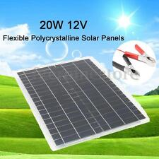 20W 12V Flexible Solar Panel 4m Cable For Battery Charging RV Boat Caravan Home