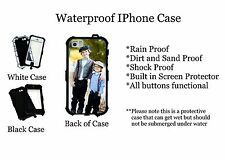 Custom Your picture  Waterproof Iphone SE 5 5s 5c Black Case