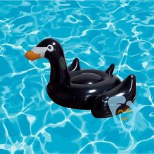 """SWIMMING POOL KIDS OR ADULT GIANT RIDEABLE BLACK SWAN INFLATABLE TOY RAFT 60"""""""