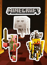 MINECRAFT MONSTERS VINYL STICKERS PACK NEW 100% OFFICIAL MERCHANDISE