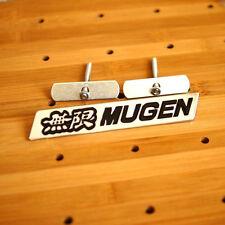 New JDM Metal BLACK Front Grill Grille Emblem MUGEN Logo Badge HONDA ACURA