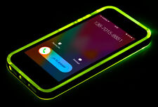 LED Flash Light UP Remind Incoming Call Cover Back Case Skin For iPhone 5 5S SE