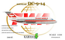 NEW !!! 1/144 Karaya Douglas DC-9-14 TWA model - LIMITED !!!