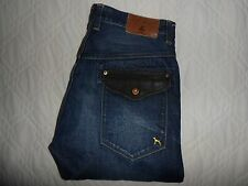 "VGC* W36 L36 ONE TRUE SAXON Blue Denim Selvedge Twisted Mens Jeans Waist 36"" L36"