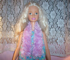 Lavender Fun Fur Scarf For The My Size Barbie Doll
