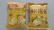 Korean Snack HAITAI HONEY BUTTER CHIP 60g + HONEY TONG TONG 65g, Sweet Potato