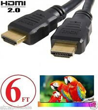 6FT HDMI 2.0 Cable For 4K Ultra HD Smart LED TV Samsung LG Sony Toshiba VIZIO