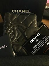 Authentic Chanel Cambon Black Agenda Planner Wallet