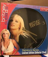 Britney Spears RARE Limited Edition Clock Sealed 2002 Official Collectors