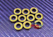 [4 Pcs] MR84-2RS (4x8x3 mm) Rubber Ball Bearing Bearings YELLOW 4*8*3 MR84RS