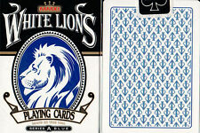 White Lions Series A (Blue) Playing Cards (Very Rare)