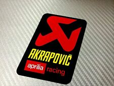 1 Adesivo Sticker AKRAPOVIC Aprilia Racing Alte Temperature High Temperatures