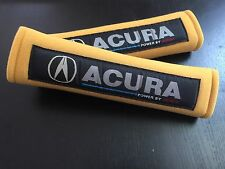APC ACURA Seat Belt Covers Shoulder Pads Harness Straps Yellow Black Universal