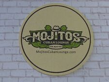 Beer Bar Coaster ~ MOJITOS Cuban Lounge & La Casa Cubana Cigar House ~ St. KITTS