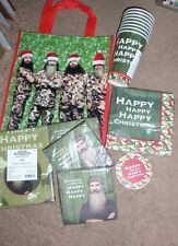 DUCK DYNASTY CHRISTMAS PARTY SUPPLIES~NAPKINS,CUPS,TABLECLOTH, COASTERS & BAG