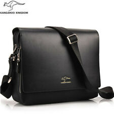 Men's Fashion Business Casual Briefcase Leather Vertical Shoulder Bag Handbag