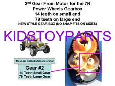 Power Wheels 2nd Second Gear From Motor Jeep Hurricane Gearbox #7R
