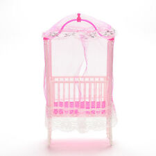 1 Pcs Cute Girls Bedrooms Decoration Cot Mosquito Net Toy for Barbie JX