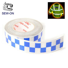 RTP1 High Viz Reflective Tape Silver and Blue 50mm x 1m