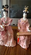 China Porcelain Statue of Book and Jean 2 beauties
