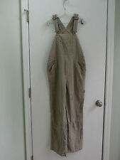 Dungarees women's beige carpenter jeans overall size S