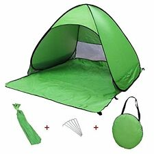 Pop Up Portable Beach  Sun Shade Shelter Outdoor Camping Fishing Tent Mesh Green