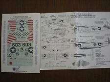 1/48 SuperScale Decals P-47D Thunderbolt Razorback 527th FS & 346th FS 48-913