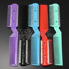 Professional Scissor Home DIY Hair Razor Comb Hairdressing Thinning Trimmer Punk