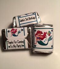 30 Little Mermaid Birthday Party Or Baby Shower Hershey Nugget Stickers Ariel