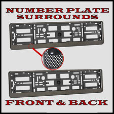 2x Number Plate Surrounds Holder Carbon for Ford Mondeo MK3 MK4