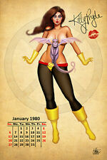 Nathan Szerdy SIGNED Marvel Comics X-Men Art Pinup Print ~ Kitty Pryde Shadowcat