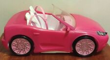 Barbie Doll Pink Convertible Coupe Sports Toy Car Mattel 2010 Bucket Seats
