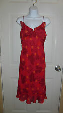 Express Dress Red Tones & Pinks Floral Size 3/4 *Free Shipping*