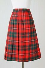 Vintage Pendleton Pleated A-Line Red Tartan Plaid wool Skirt XS New old Stock