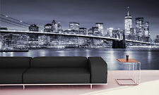 Manhattan and Brooklin Bridge Wall Mural  Photo Wallpaper GIANT WALL DECOR