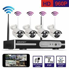 960p Wireless IP Camera 4ch DVR Plug Play Security System Outdoor Night Vision