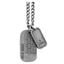 JOHN 3:16 Dog Tag Necklace Christian Witness Gear