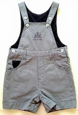 ♥ Trudy & Teddy Grey Dungarees 12-18m ♥