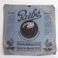 78T SAPHIR Mlle CHENAL & TIPHAINE & Léon BEYLE FILLE ANGOT Chant PATHE 2504 RARE