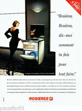 PUBLICITE ADVERTISING  016  1993  ROSIERES  four  plaque éléctroménager TRIPLE