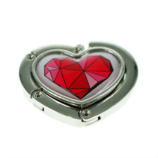 Heart Handbag Hanger with Geometric Red Heart Design XHBH58