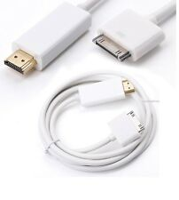 Per iPad 1 2 3 iPhone 4 4s NUOVI 6ft 30pin connettore dock a HDMI Cavo Adattatore TV