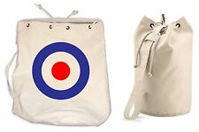 MOD TARGET DUFFLE BAG - College Rucksack Gym Paul Weller The Who Jam Sports