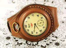 Antique WW1 times New Leather STRAP Band WRISTBAND For Pocket Watch 50mm WWII