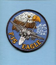McDONNELL DOUGLAS BOEING F-15 EAGLE ONE FLIGHT HOURS USAF Fighter Squadron Patch